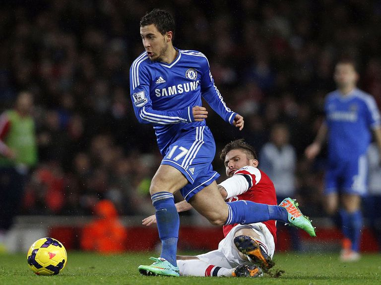 Eden Hazard and Chelsea face Liverpool on Sunday