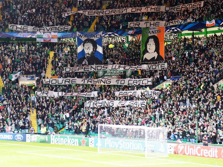 Celtic fans: Will be able to take flags to the game