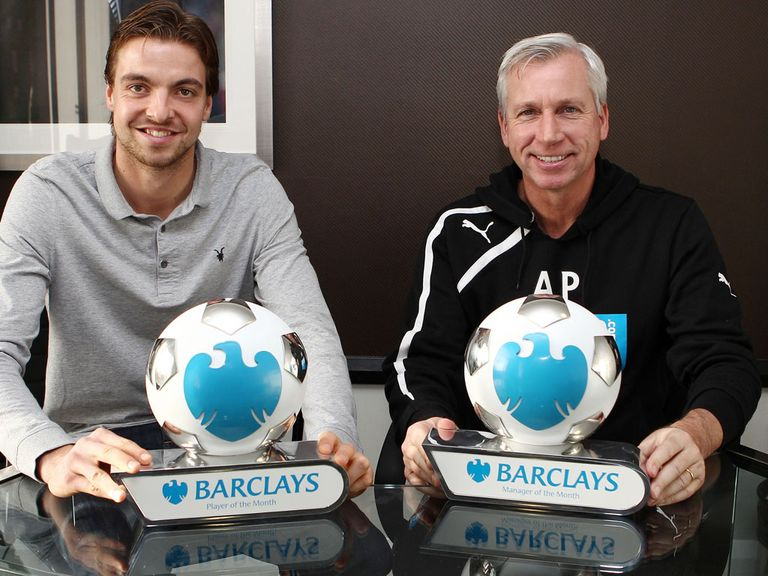 Tim Krul and Alan Pardew: Rewarded for fine form in November