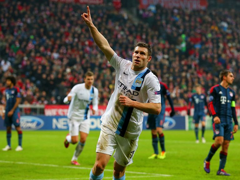 James Milner celebrates his winner in Munich