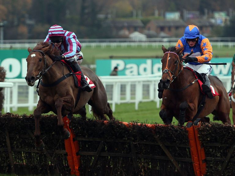 Brendan and Benefique Royale en route to victory at Sandown