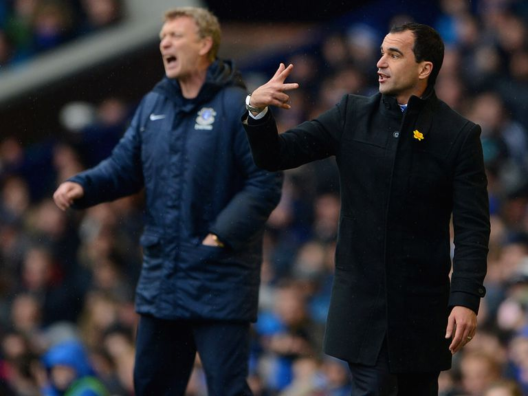 David Moyes and Roberto Martinez meet on Wednesday night.