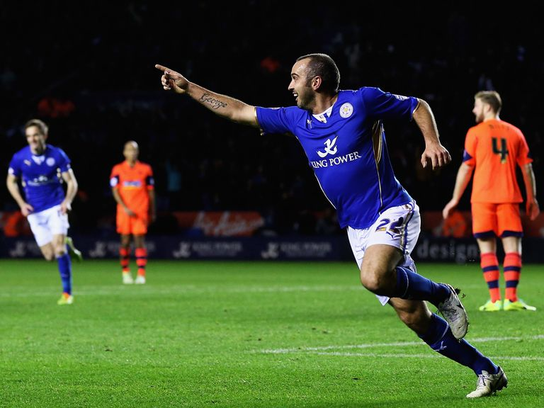 Gary Taylor-Fletcher scored in Leicester's 5-3 win over Bolton.