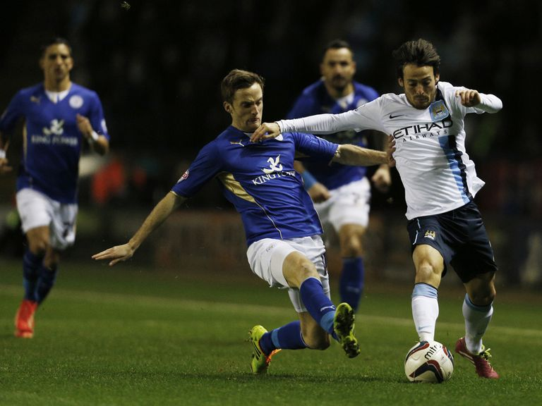 David Silva in Capital One Cup action