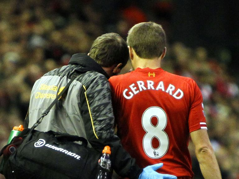 Steven Gerrard: Injury worry for Liverpool