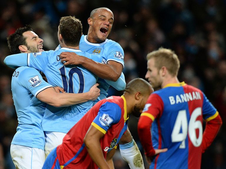 Manchester City are top after beating Crystal Palace 1-0.