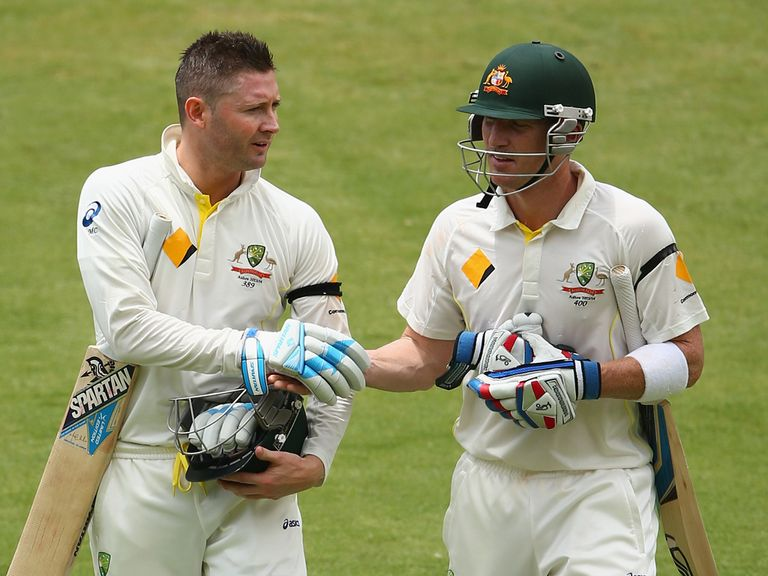 Brad Haddin (right) can upstage captain Michael Clarke