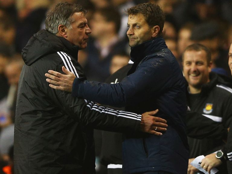 Allardyce: Hailed Sherwood's efforts at Spurs
