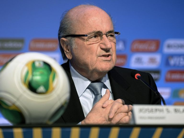 Sepp Blatter: Announces the World Cup draw details