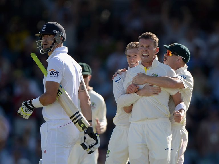 Peter Siddle: Australia paceman celebrates another Kevin Pietersen dismissal
