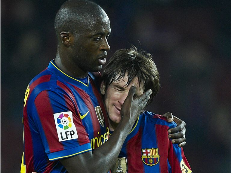 Yaya Toure: Hopes to be reunited with Lionel Messi (l)
