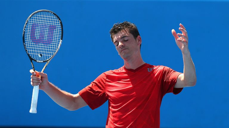 Frank Dancevic collapsed at the Australian Open, claiming he saw cartoon dog Snoopy on court