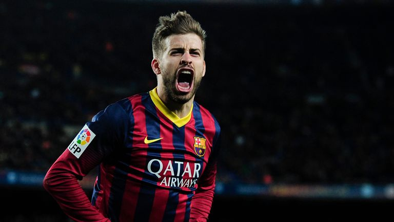 Gerard Pique: Set to stay at the Nou Camp for another four years