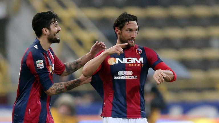 Rolando Bianchi was the hero for Bologna.