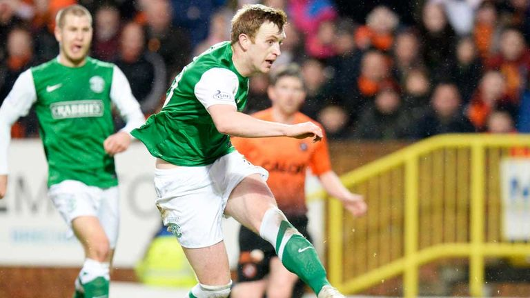 Liam Craig: Opens the scoring for Hibernian in the 2-2 draw with Dundee United