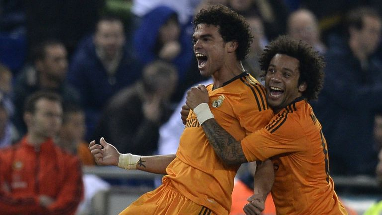 Pepe: Celebrates his winner with Marcelo