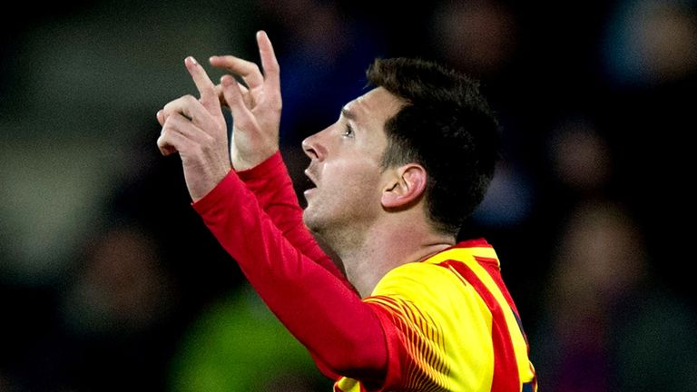 Lionel Messi: Scored twice to help Barcelona to a 6-0 aggregate win in Copa del Rey