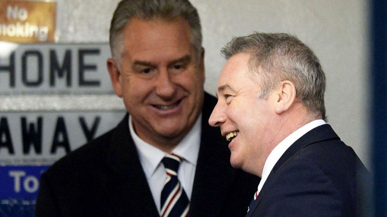 Ally McCoist (right): Encouraged by chief executive's reassurance