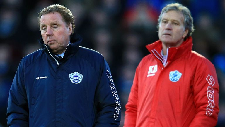 Harry Redknapp and Kevin Bond: QPR have fallen off the pace