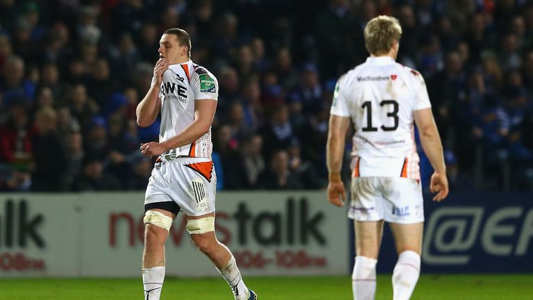 Ian Evans: Ospreys lock is sent off against Leinster