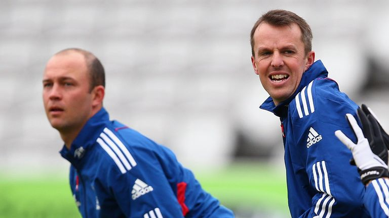 Jonathan Trott (L) is needed by England with Graeme Swann (R) having retired
