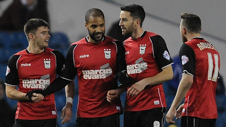 David McGoldrick: Struck late on for Ipswich