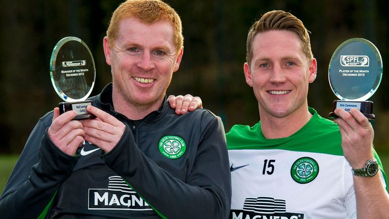 Celtic duo Neil Lennon and Kris Commons win monthly awards