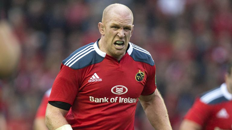 Paul O'Connell: Will join Donncha O'Callaghan in the Munster second-row