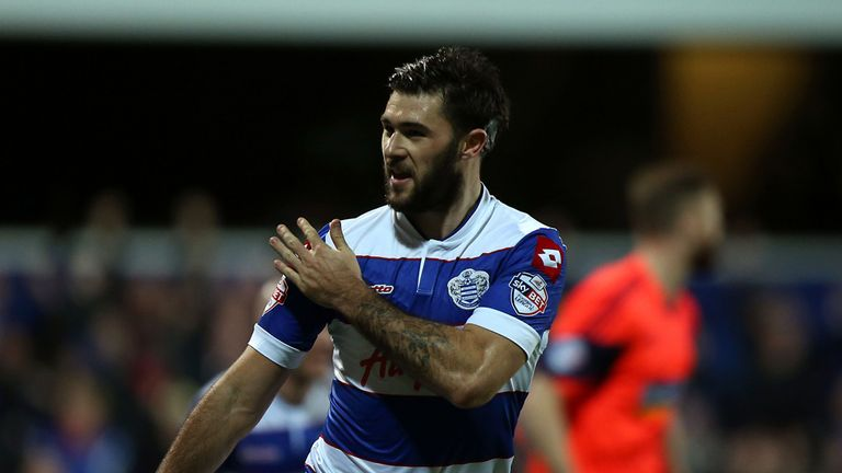Charlie Austin: Celebrates his opener for QPR