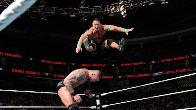 Cena and Orton battled for the WWE World Heavyweight Title in Pittsburgh