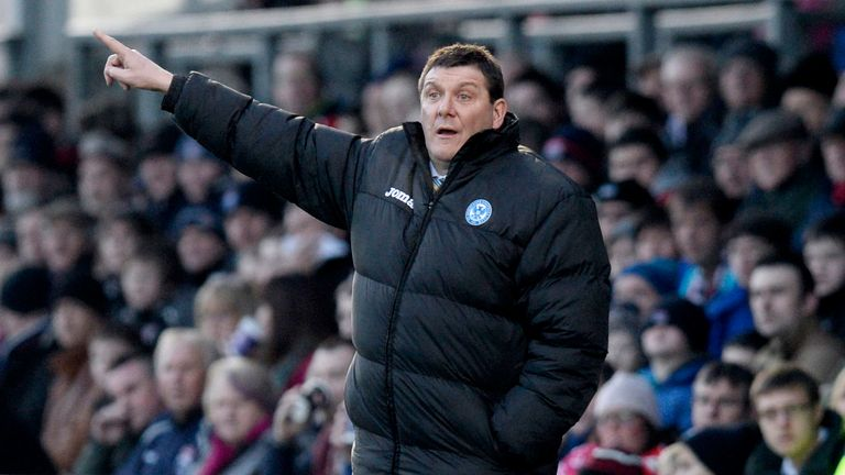 St Johnstone manager Tommy Wright: Back in the dugout against Aberdeen