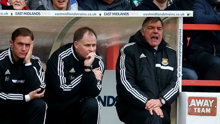 Sam Allardyce: Saw his youthful side slip to a heavy defeat