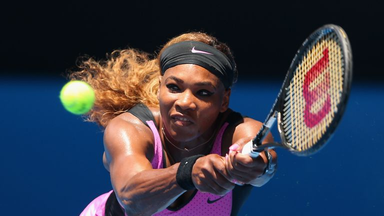Serena Williams: bidding for her 62nd win at Melbourne Park