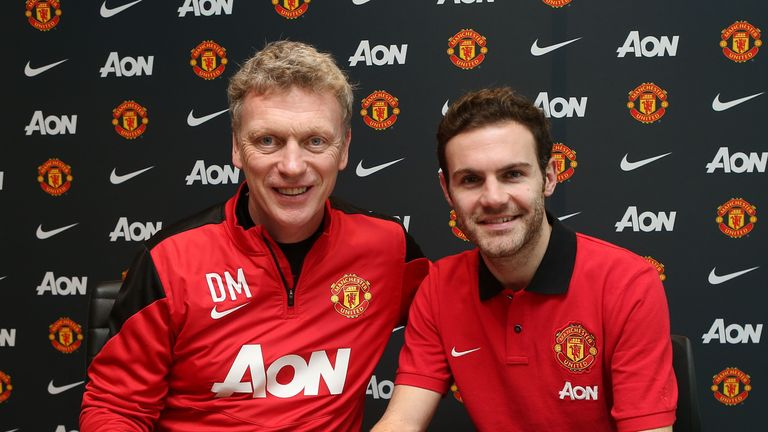Juan Mata: penned a £37.1million contract with Manchester United.