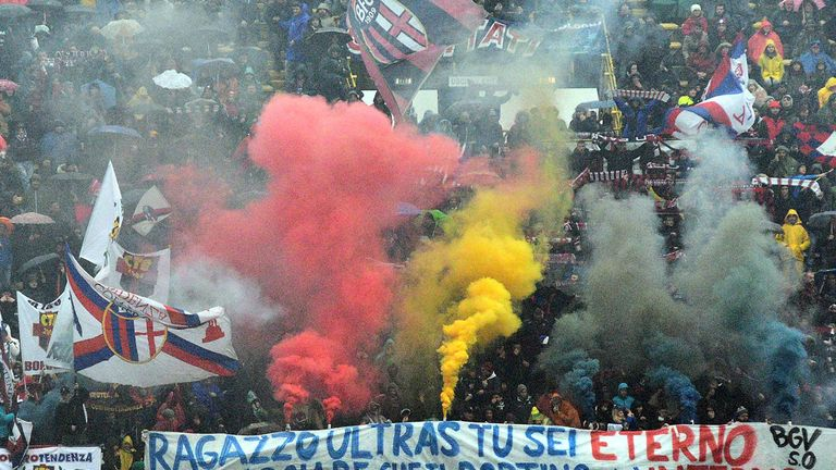 Bologna fans: Behaviour has led to punishment for the club