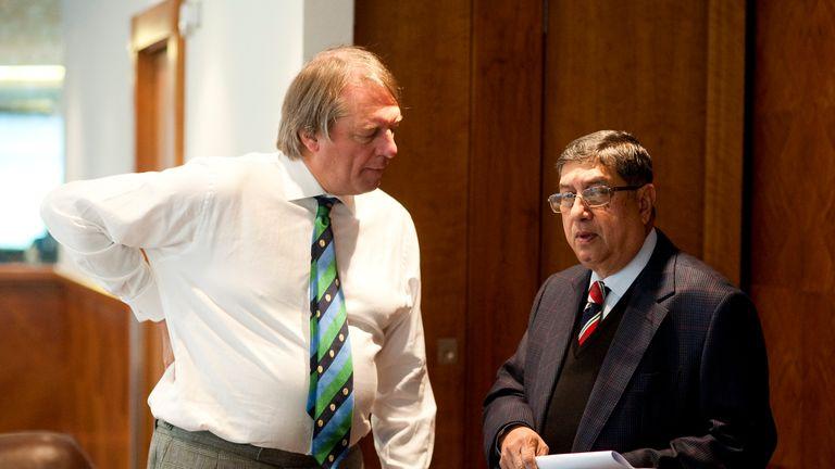 ECB chairman Giles Clarke (left) and BCCI president N Srinivasan