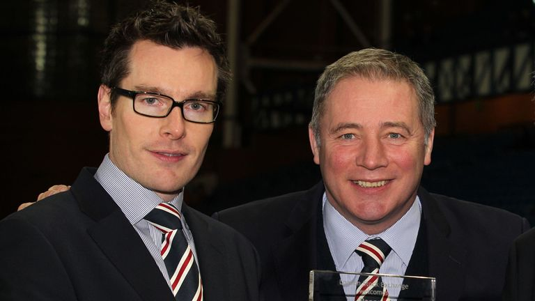 Brian Stockbridge (l): Has left Rangers by mutual consent