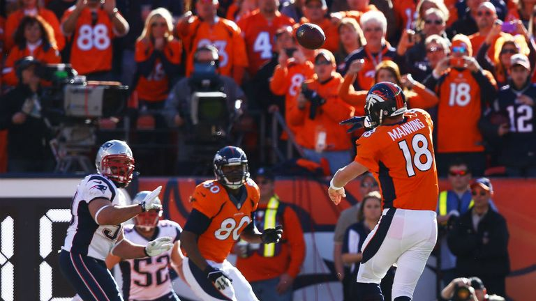 Peyton Manning led the Denver Broncos to a 26-16 win over New England