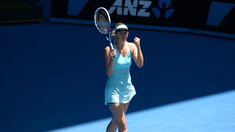 Maria Sharapova: Needed three sets to beat Karin Knapp