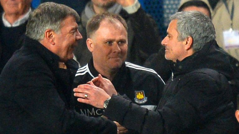 Sam Allardyce and Jose Mourinho: Both nominated for February Manager of the Month.