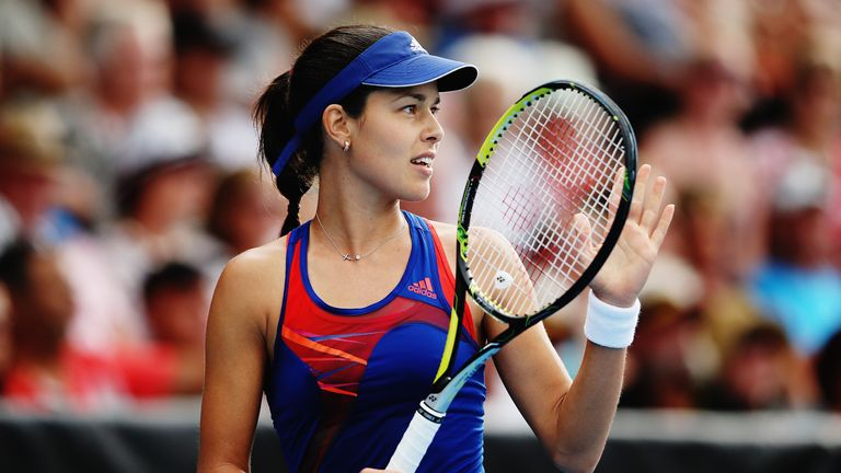 Ana Ivanovic: Came through a tight second set to reach the final in Auckland