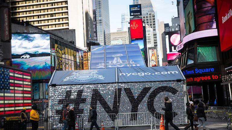 Super Bowl Boulevard: but New York is hardly being dominated by the big game