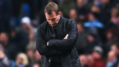 Brendan Rodgers was not happy after the 2-1 loss at Manchester City