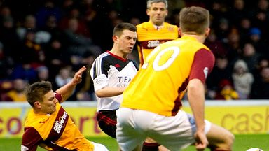 Ryan Jack (centre): Tackled by Motherwell's Shaun Hutchinson