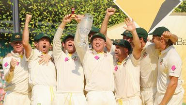Australia get their celebrations under way at the SCG
