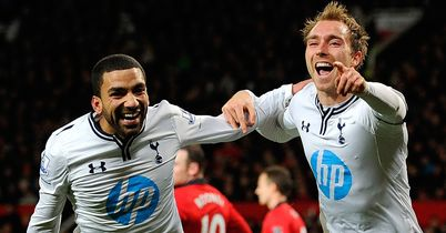 Christian Eriksen celebrates Tottenham winner
