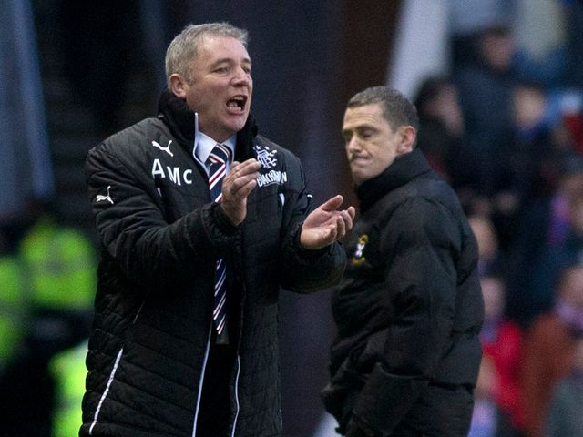 Ally McCoist: Getting ready for Monday night's clash with Forfar