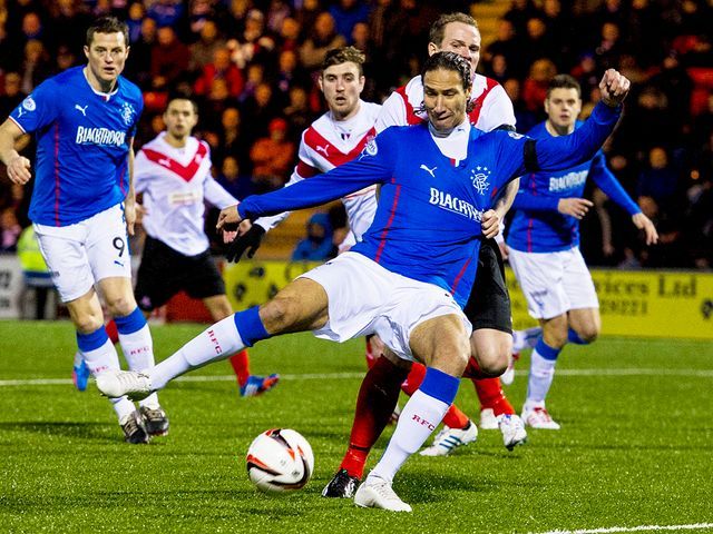 Bilel Mohsni attempts to get a shot in against the hosts