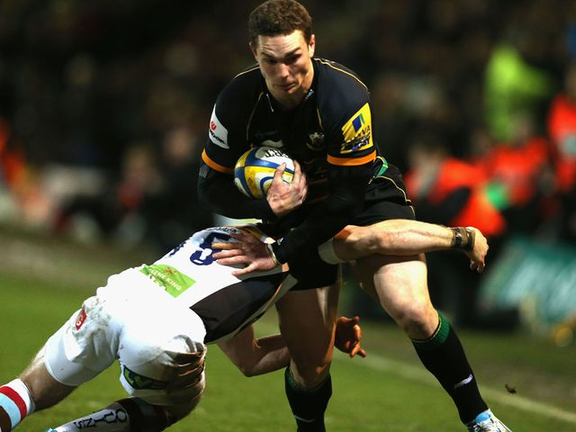 George North in action against Harlequins on Friday