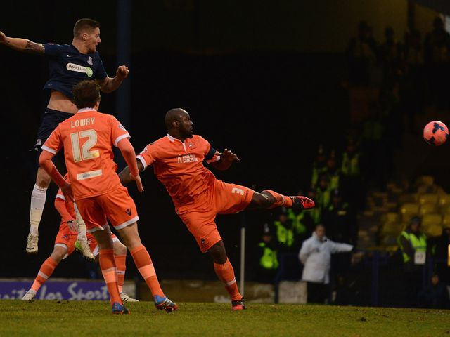 Barry Corr heads Southend into the lead
